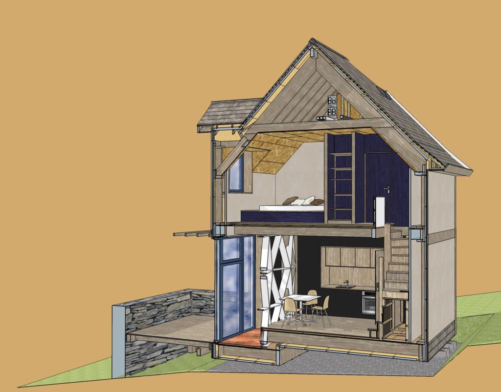 Principes constructifs maison en paille